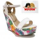 Sandales compensées - FIORUCCI - Ref: 0633