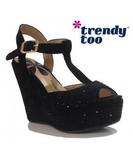 Sandales compensées - TRENDY TOO - Ref: 0628