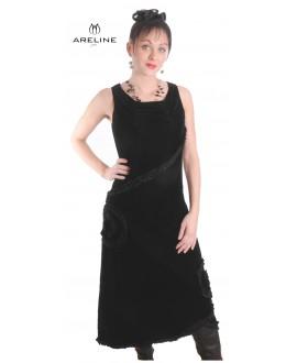 Robe longue noire ARELINE - Ref: 5751