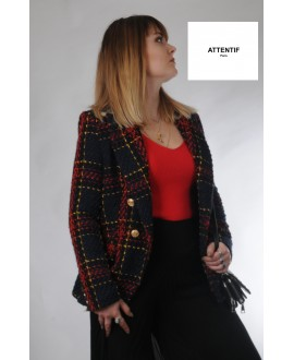 veste tweed - Attentif- Ref :7618