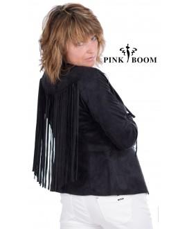 Veste PINK BOOM à franges - Ref: 7285