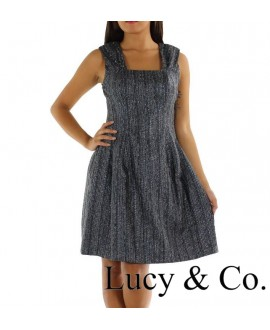 Robe argentée LUCY PARIS - Ref: 7326