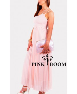 Robe longue PINK BOOM rose pâle - Ref: 7252