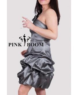 Robe PINK BOOM argent satiné - Ref: 7251