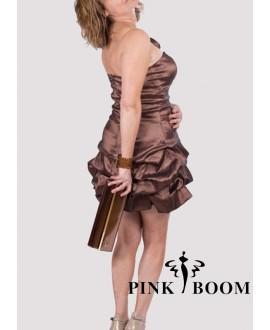 Robe PINK BOOM brun satiné - Ref: 7250