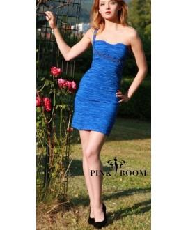 Robe PINK BOOM bleu satiné