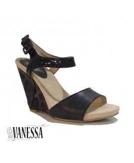 Sandales compensées - Les secrets de Vanessa - Ref: 0336