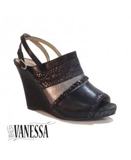 Sandales compensées - LES SECRETS DE VANESSA - Ref: 0337