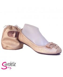 Ballerines - SUREDELLE - Ref : GE22 CHAMPAGNE