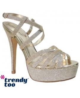 Sandales à talon avec plateforme - TRENDY TOO - Ref: 0891