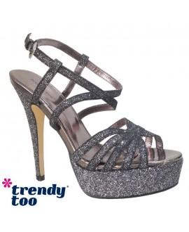 Sandales à talon avec plateforme - TRENDY TOO - Ref: 0890