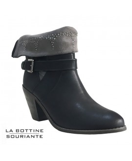 Bottines revers strass - Ref: 0245