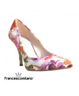 """Escarpins """"fleurs""""- FRANCISCO MILANO - Ref: 0360"""