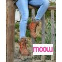 Bottines à lacets fourrées - MOOW - Ref : 0938