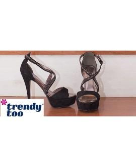 Sandales à talon avec plateforme - TRENDY TOO - Ref: 0894